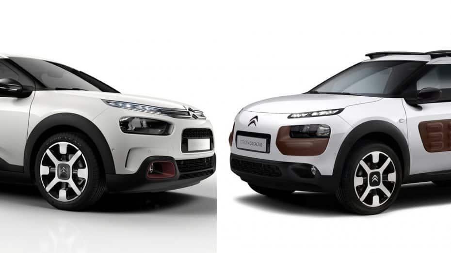 Comparación visual: Juzga tú mismo cuánto ha cambiado el nuevo Citroën C4 Cactus