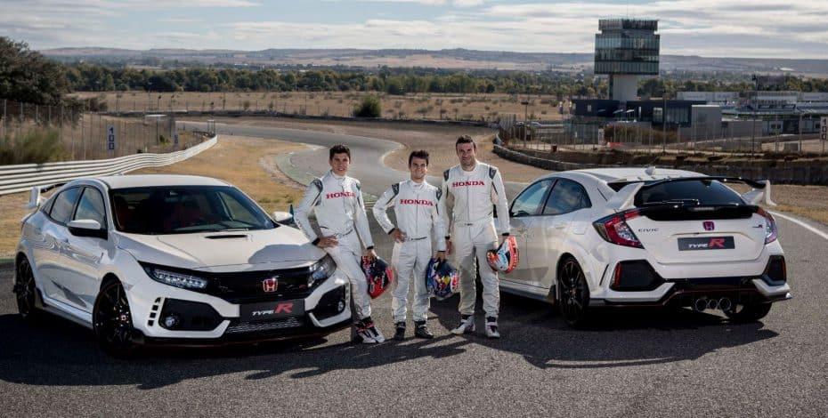 """Y de regalo, un Honda Civic Type R para el """"día a día"""" de Márquez, Pedrosa y Bou"""