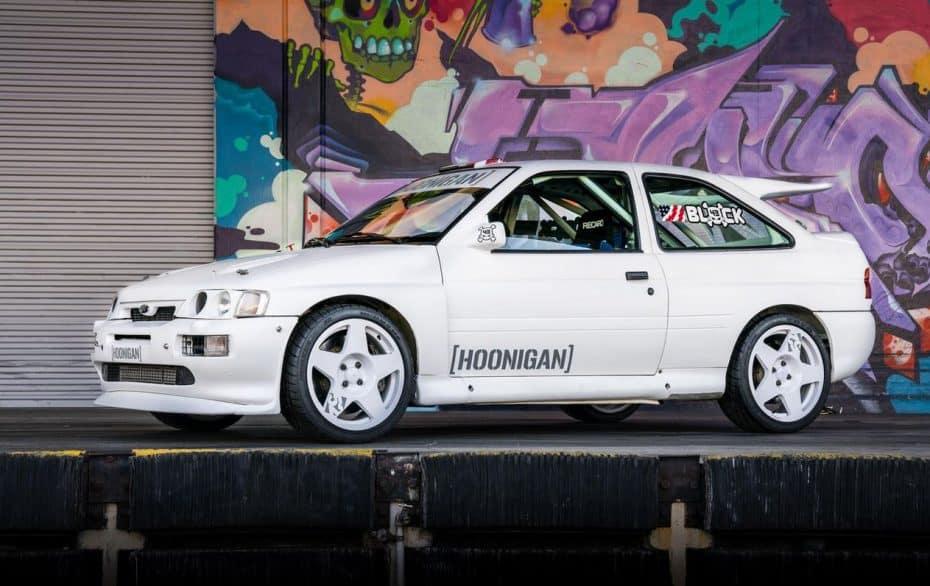 «100% vieja escuela»: Así es el Ford Escort RS Cosworth Rally Car de Ken Block