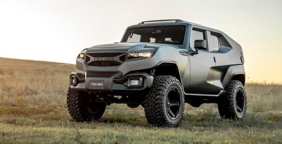 Te presentamos el Rezvani Tank: Un SUV futurista con más de 500 CV y visión nocturna