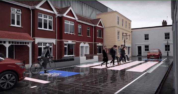 ¿El paso de cebra del futuro? Generado por LEDs y cambia de lugar según nuestras necesidades