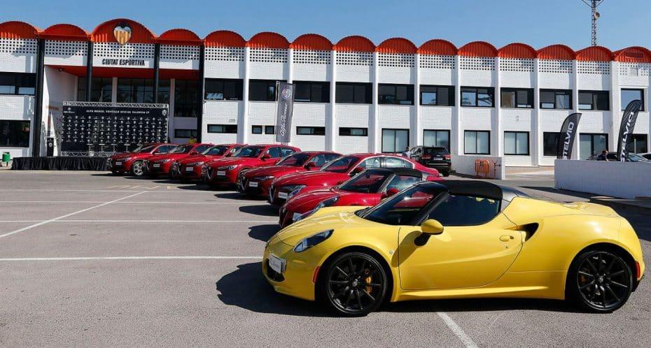 ¡Alfa Romeo para todos!: Los jugadores del Valencia reciben sus nuevas máquinas