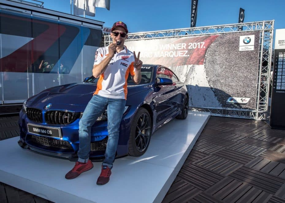 Marc Márquez ya disfruta del BMW M Award 2017: Un exclusivo BMW M4 CS