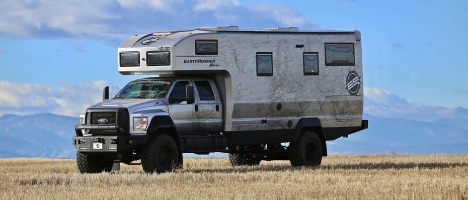 EarthRoamer XV-HD: La autocaravana más exclusiva, lujosa y capaz que verás jamás cuesta 1,3 M de euros