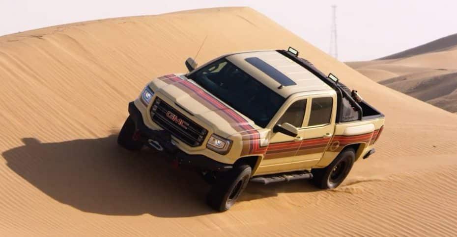 GMC nos presenta el Desert Fox Concept: Un monstruoso pick-up de aire retro listo para la aventura