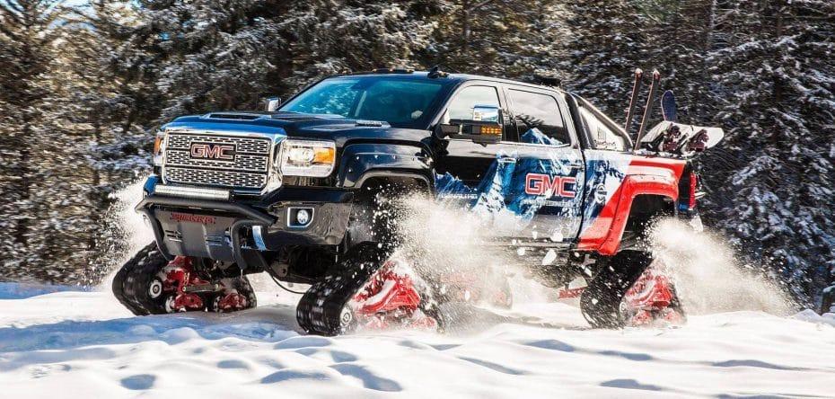 Este GMC Sierra 2500HD All Mountain Concept es 'El abominable hombre de las nieves' ¡Bestial!