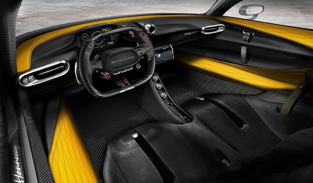 Así es el interior del Hennessey Venom F5: Sin duda, a la altura de un superdeportivo de 1.600 CV