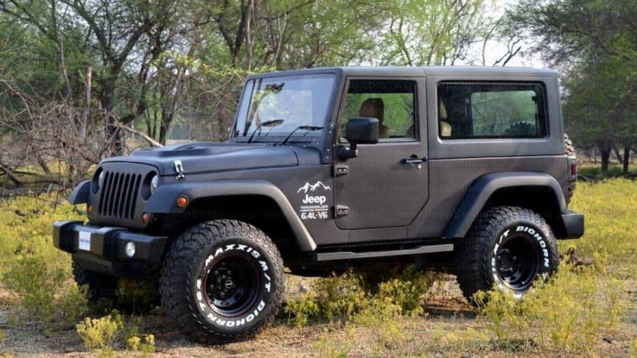 Aunque no te lo creas esto no es un Jeep Wrangler ¿Adivinas qué modelo se esconde bajo esta réplica?