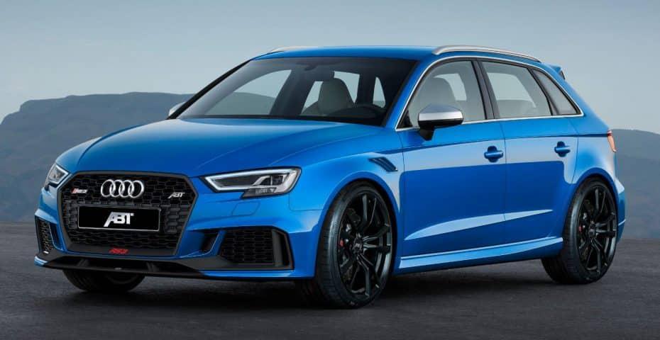 Y ahora el Audi RS3 y su TFSI de 2.5 litros con 460 CV (aunque se espera algo más gordo)