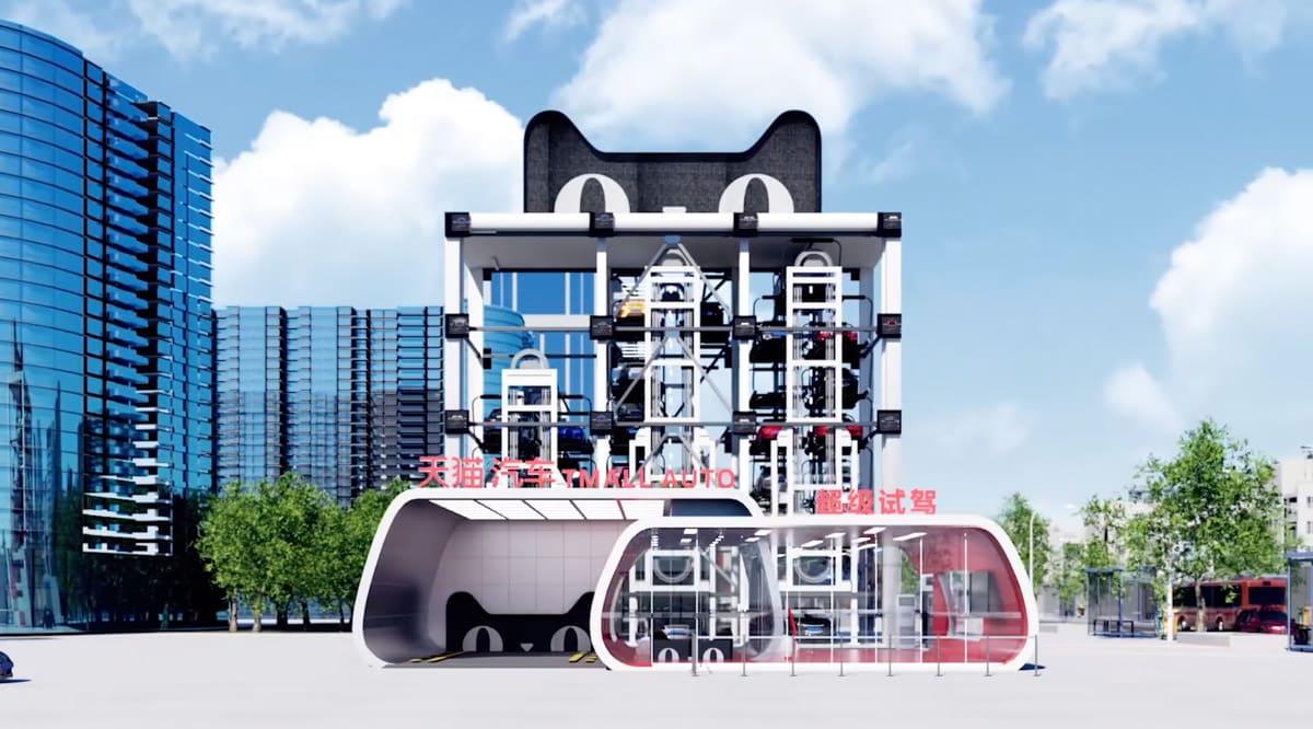 ¿Máquinas expendedoras para probar y comprar un coche? Ojo a lo último de Alibaba