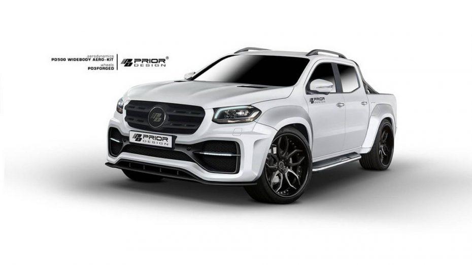 A falta de un Mercedes-Benz Clase X AMG, Prior Design te hace esta salvaje propuesta para el pick up