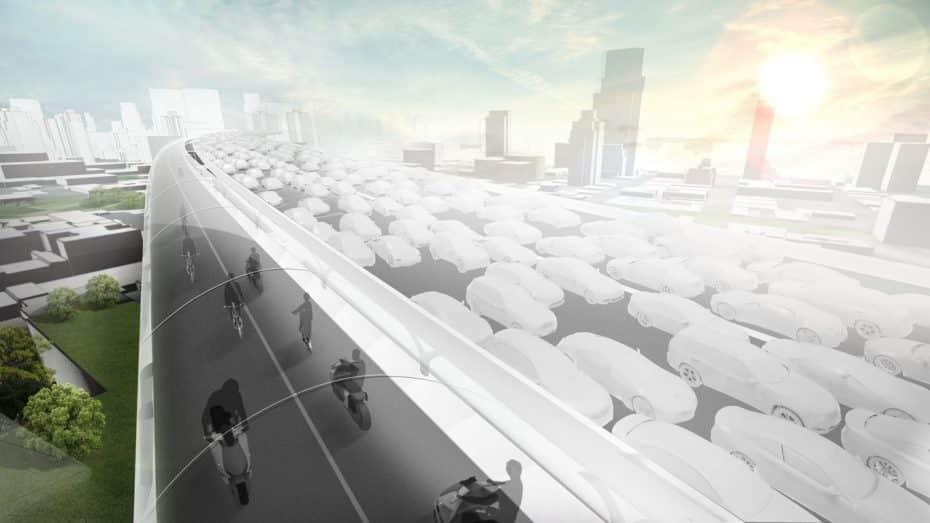 BMW Vision E³ Way: Así podría ser el futuro de las grandes ciudades gracias a estos pasos elevados