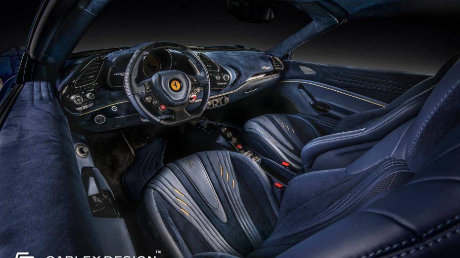 Carlex Design nos trae el interior más opulento jamás visto en un Ferrari 488 Spider: Baño de piel y Alcántara