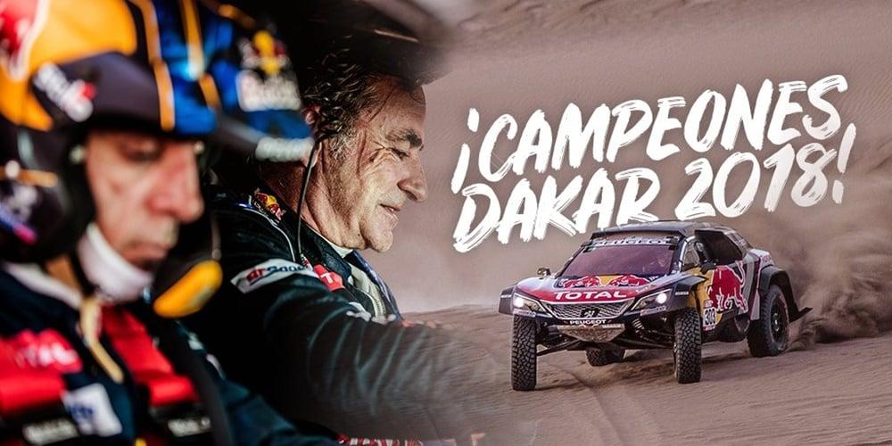 ¡Un grande! Carlos Sainz se hace con su segundo Dakar en el último año de participación de Peugeot