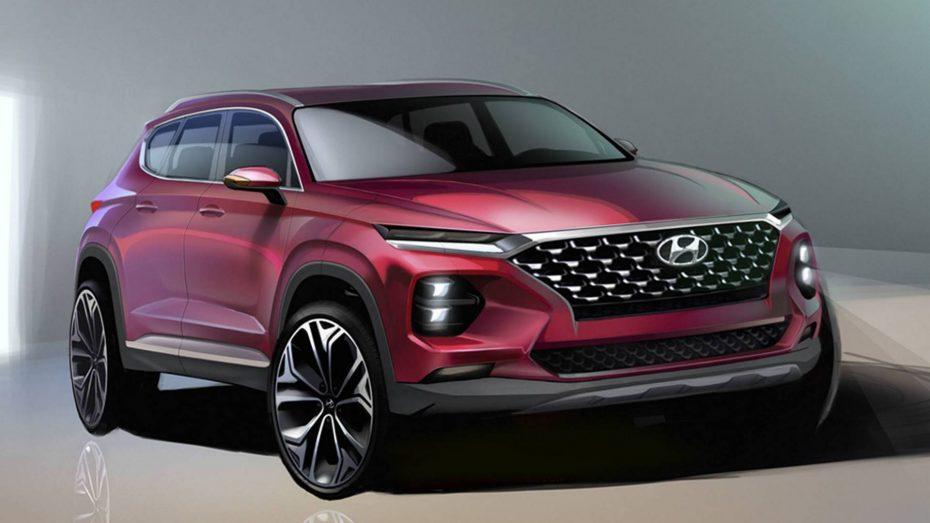 El Hyundai Santa Fe 2018 se destapa en nuevos bocetos oficiales: Estas son sus novedades