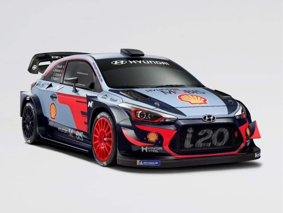 Hyundai nos muestra el i20 WRC para 2018: Sutiles mejoras aerodinámicas, misma plantilla