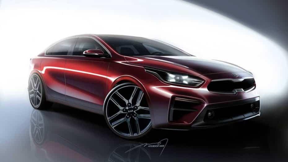Primeros 'teasers' del Kia Forte 2019: Un 'mini Stinger' que soñarás con ver en Europa