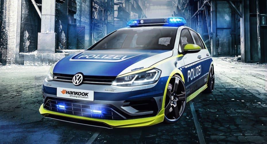 Oettinger ha creado el coche patrulla perfecto: A ver qué te parece este salvaje Golf R de 400 CV