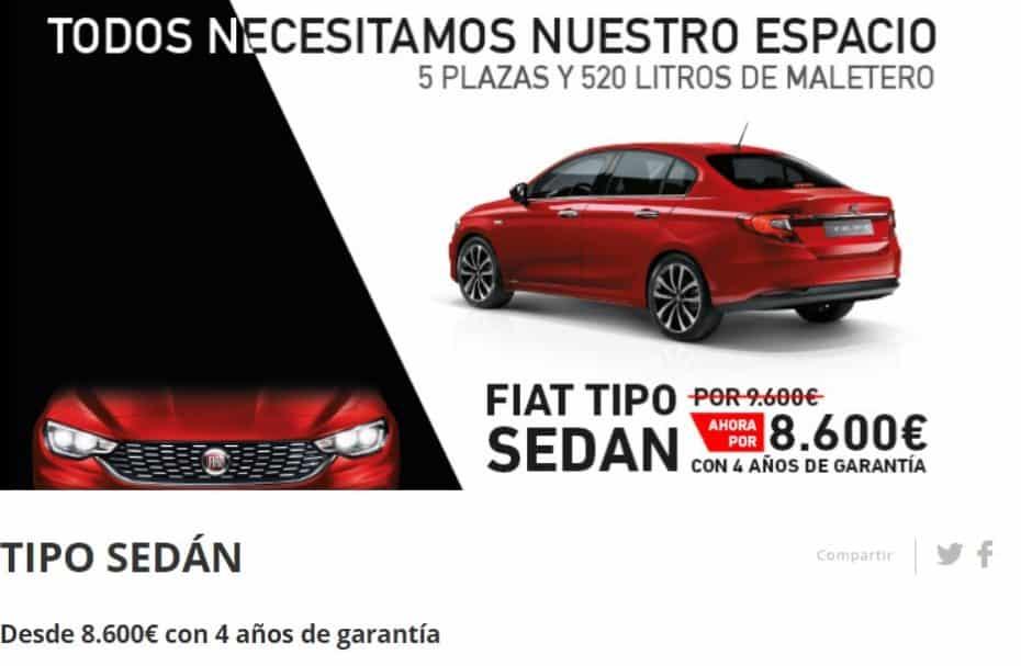 Por unos días, el Fiat Tipo está a la venta por 8.600 €