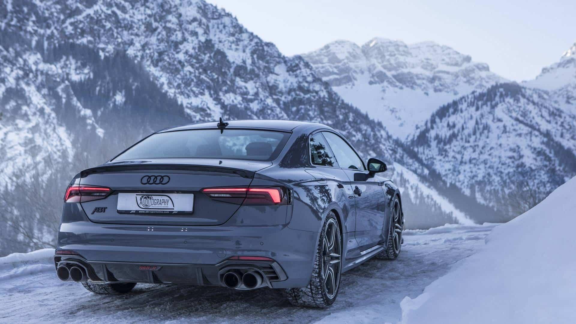 El Brutal Audi Rs5 R De Abt Y Sus 530 Cv Nos Deleitan Con Un Paseo Por Los Alpes Austriacos