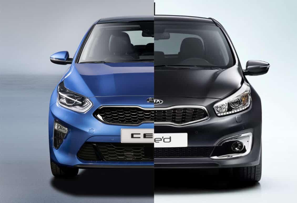 Comparación visual: Juzga tú mismo cuánto ha cambiado el nuevo Kia Ceed