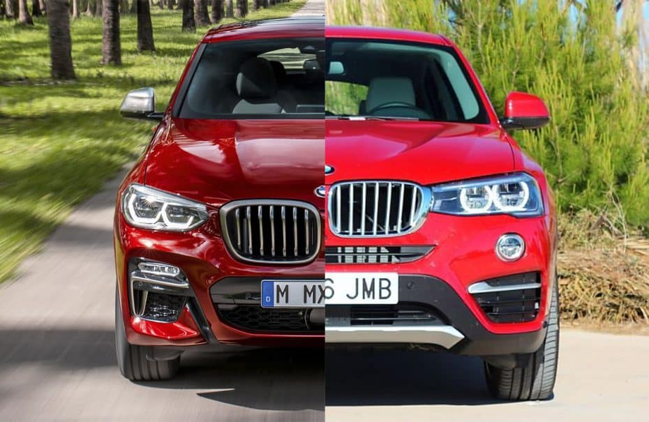 Comparación visual: Juzga tú mismo cuánto ha cambiado el nuevo BMW X4