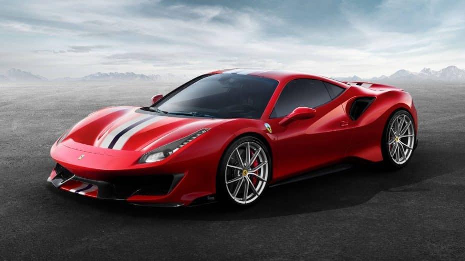 ¡Oficial! Ferrari 488 Pista: El V8 más potente del 'Cavallino' ofrece 185 CV/litro y 90 kilos menos de peso