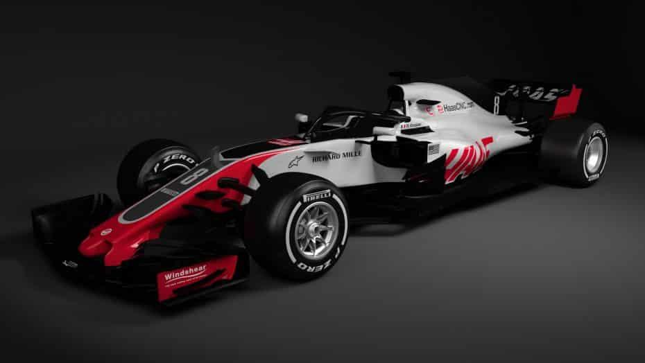 Haas nos desvela el nuevo 'VF-18': Una evolución de su predecesor con el nuevo 'halo'