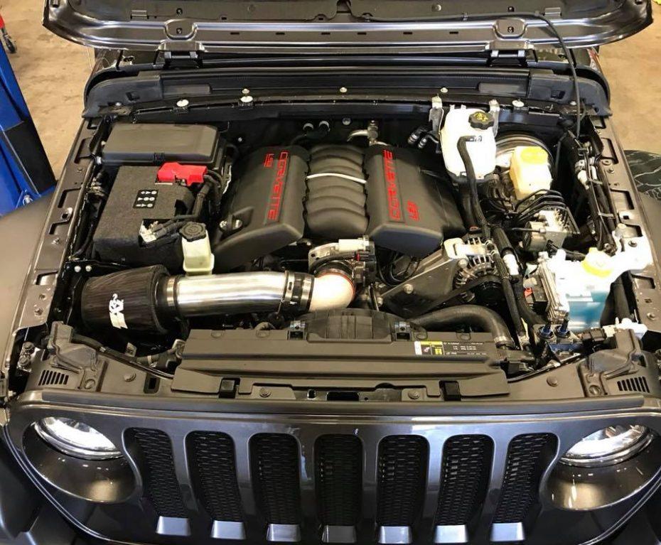 Este Jeep Wrangler esconde una grata sorpresa bajo el capó… y se llama LS3 V8