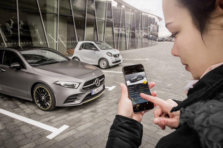 Abrir el Mercedes-Benz Clase A con el móvil o compartirlo con tus amigos como un Car2Go será posible