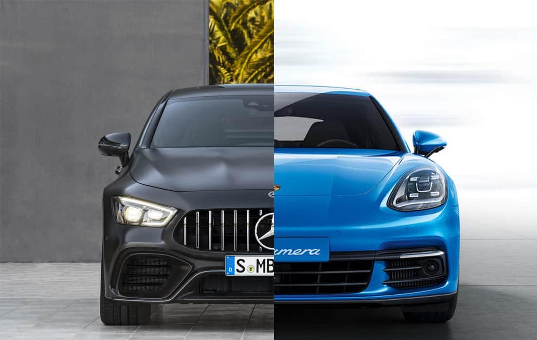 Comparación visual: Juzga tú mismo cuánto se parecen el Porsche Panamera y el nuevo Mercedes-AMG GT