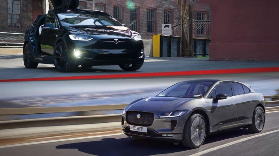 Comparación visual: Cara a cara el nuevo Jaguar I-Pace y el Tesla Model X