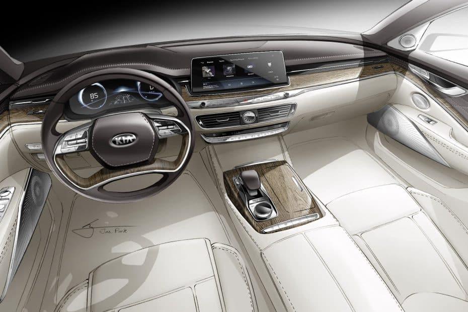 Kia nos muestra nuevos detalles del sofisticado, minimalista y tecnológico interior de su K900