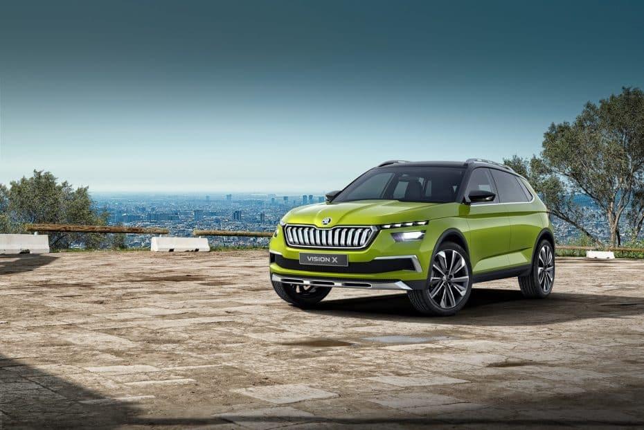 ¡Oficial! Škoda Vision X: El anticipo de un crossover urbano que usará GNC, gasolina y electricidad