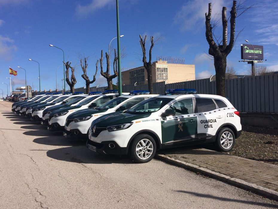 La Guardia Civil recibe 180 unidades del Renault Kadjar