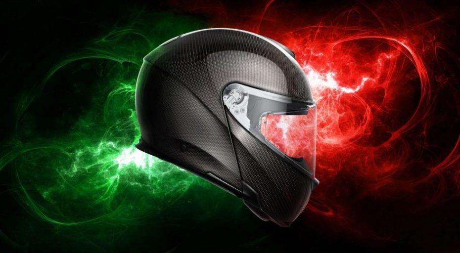 AGV ha creado el primer casco modular fabricado íntegramente en fibra de carbono