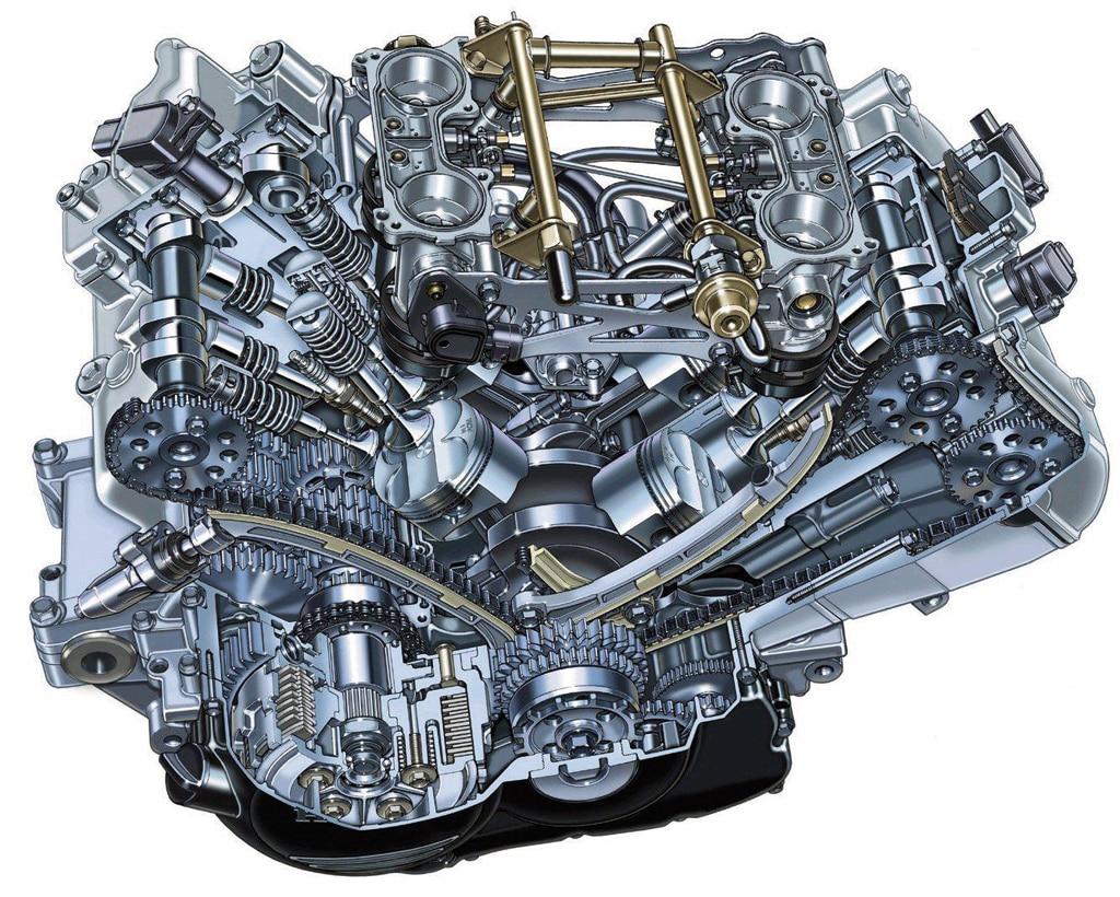 Ilustración de un motor VTEC por dentro