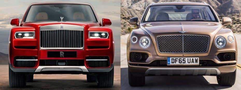 Comparación visual Bentley Bentayga vs. Rolls-Royce Cullinan: Si pudiera comprarme uno sería…