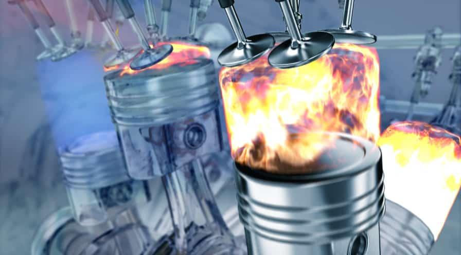El RCCI tiene dos inyectores de combustible por cilindro