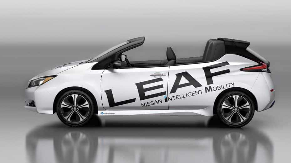 Nissan LeafOpen Car: ¿Alguna vez te planteaste tener un eléctrico con techo tipo Targa?