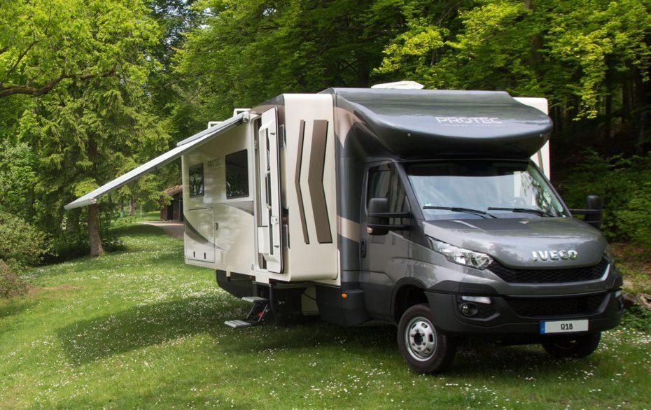 Así es el Protec Q18: Una autocaravana modular con todas las comodidades de un hotel