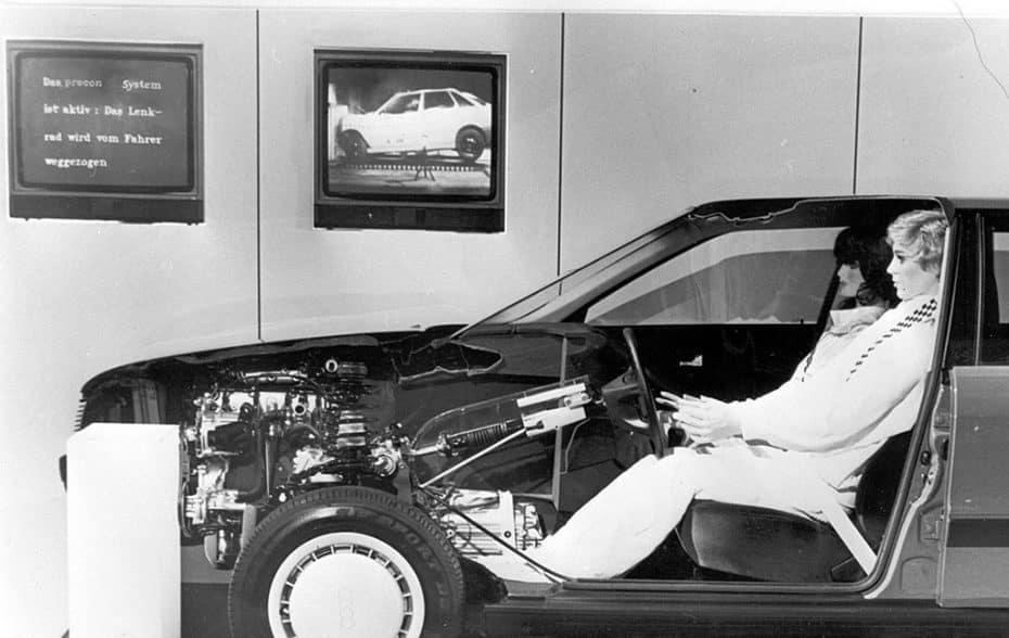 Sistema 'Procon-Ten' de Audi: Cuando cables de acero y poleas sustituían a los airbag