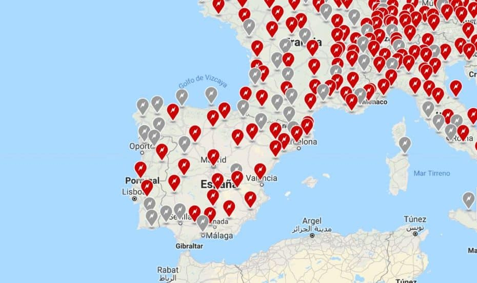 A finales de este año habrá 36 Supercargadores en España y más de 300 puntos de carga en destino