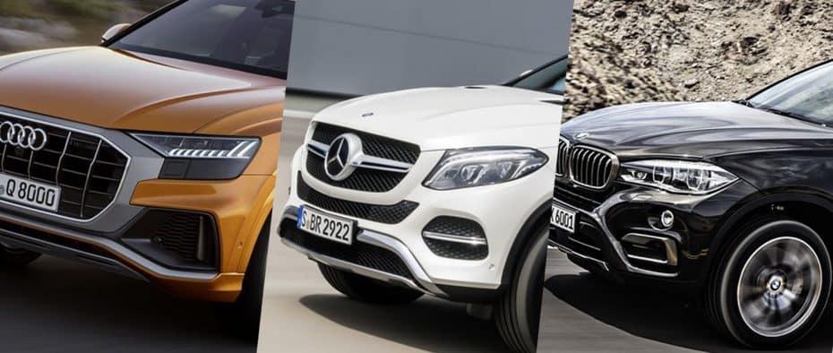 Comparativa visual: Juzga tú mismo cuánto se parecen el nuevo Audi Q8, BMW X6 y Mercedes GLE Coupé