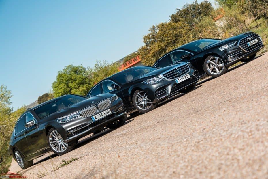 Comparativa Audi A8 vs. BMW Serie 7 vs. Mercedes-Benz Clase S: ¿Cuál es el mejor salón rodante?