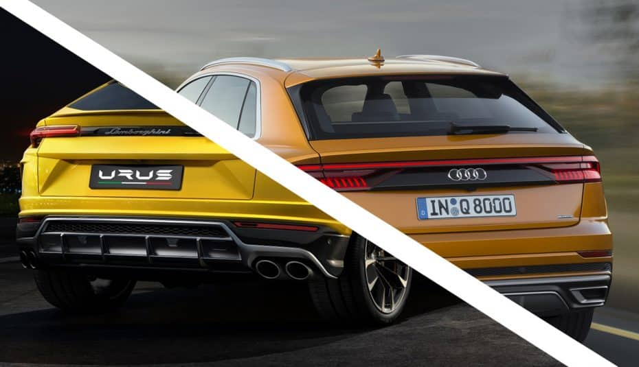 Comparativa visual: Juzga tú mismo cuánto se parecen el nuevo Audi Q8 y el Lamborghini Urus