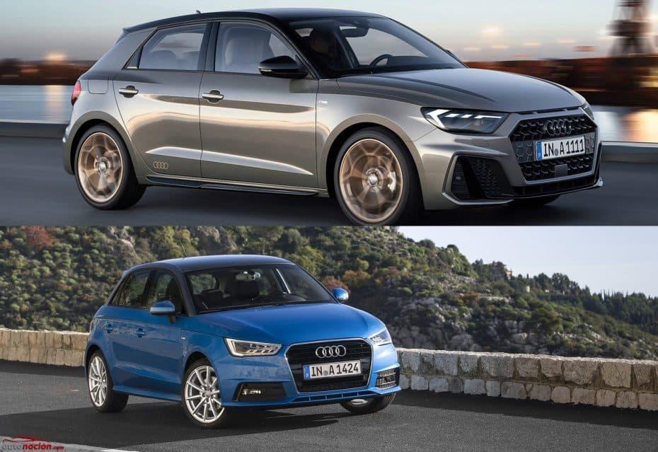 Comparación visual Audi A1: Juzga tú mismo cuánto ha cambiado el pequeño de la familia