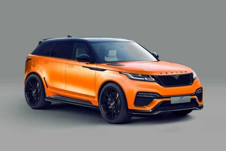 Sonido V8 y un kit aerodinámico ensanchado rico en fibra para el Range Rover Velar