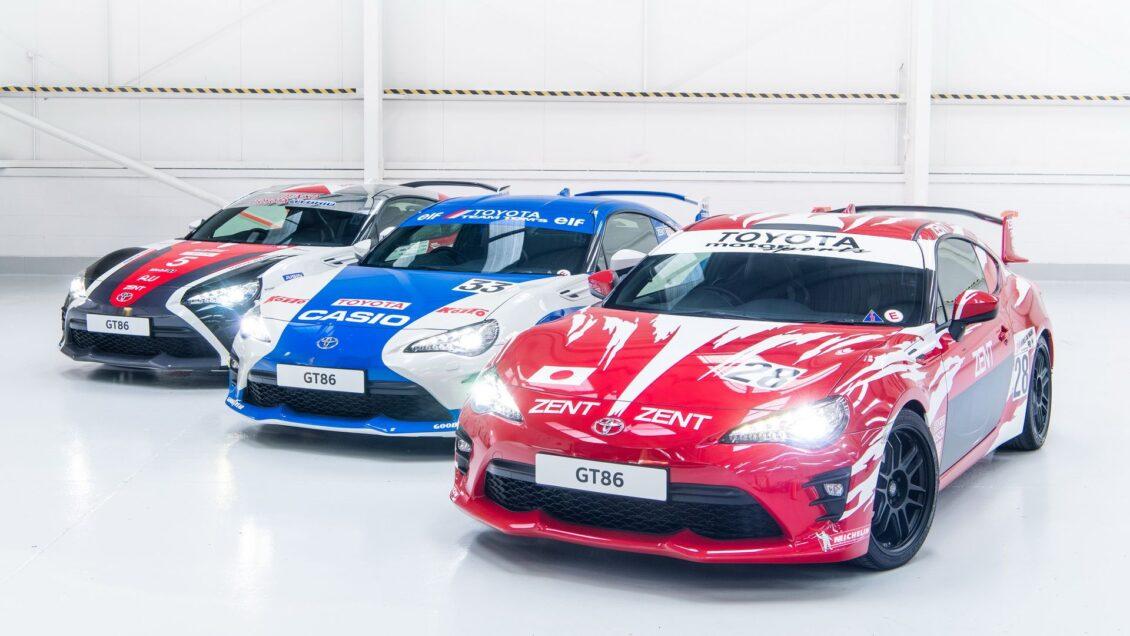 Toyota celebra su historia en las 24 Horas de Le Mans con tres GT86 muy 'racing'