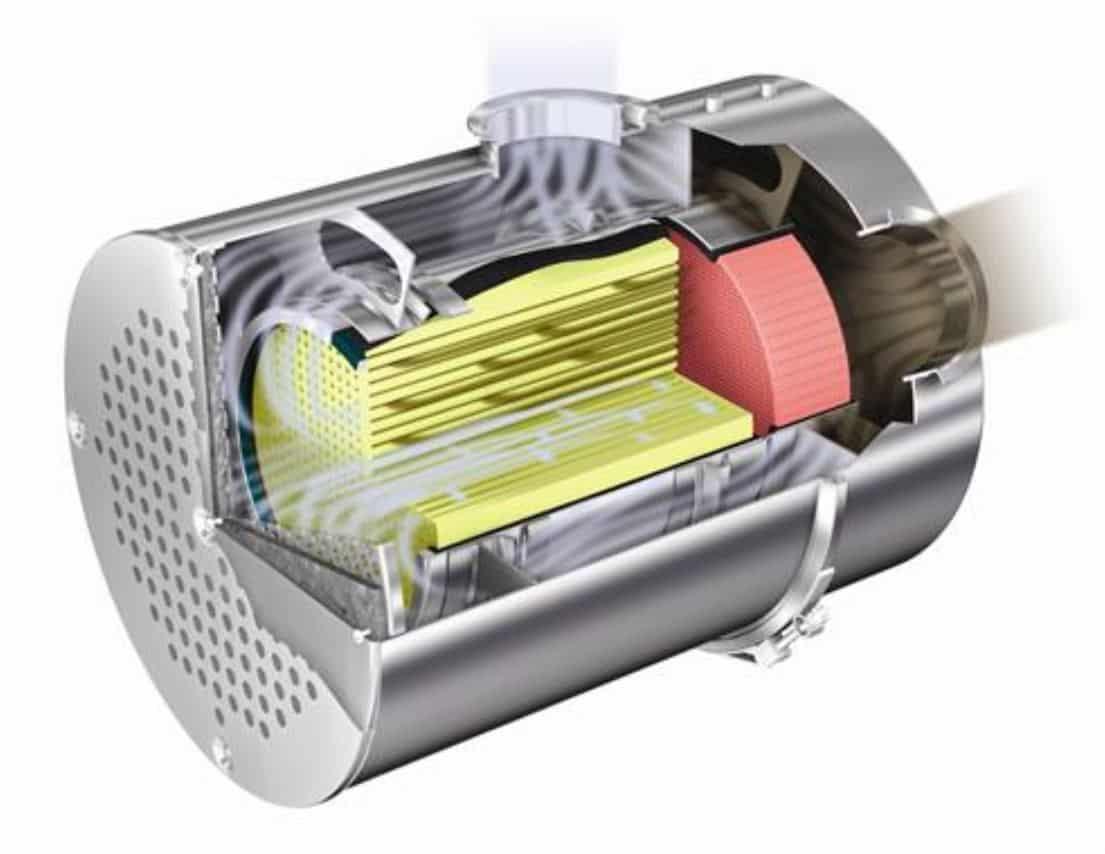 El filtro de partículas se limpia con una regeneración